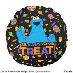 Cookie Monster - Me Always Choose Treat. Regalos, Gifts. Decoración para el hogar. Home decoration. #cojín #pillow