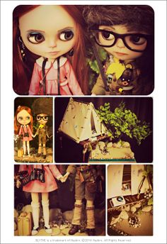 SAm & Suzy from Moonrise Kingdom now available On-Line via Junie Moon Shop #Moonrisekingdom #samshakusky #suzybishop #blythedoll