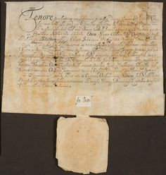 John Wesley's certificate of ordination as Deacon in the Church of England. 19th September 1725. With seal and signature of the Bishop of Oxford. Part of the Wesley College, Bristol collection.