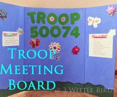 First meeting for girl scout daisies. Troop board idea