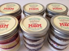 Cupcakes In A Jar-Mason Jars-Mother's Day-Home is Wherever your Mom is-Happy Mother's Day-Vintage-Gifts for Mom