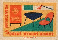 czechoslovakian matchbox label, found through glaserei.
