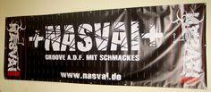 PVC-Banner drucken, Ein im Kundenauftrag gedruckter Banner. www.band-merch.de  #merchandise #bremen #pvcbanner #bannerdruck #druckerei #bühnenbanner #bandmerch
