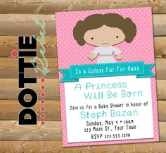 Printable  Star Wars Baby Princess Leia Baby by DottieRebelDesigns