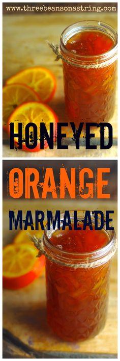 Honeyed Orange Marmalade. In this traditional Seville orange marmalade, honey replaces processed sugar. Paleo, gluten free.