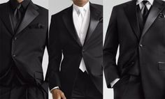Yves Saint Laurent tuxedos. The all black looks so sharp. love it!