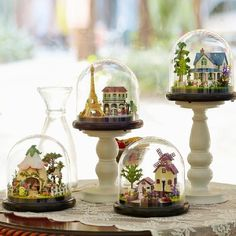 Party Diy Decorations Led Night Lamp Diy 3d Underwater World Micro-landscape Decor For Home Crafts Terrarium Ball Ornament Valentines Day Present