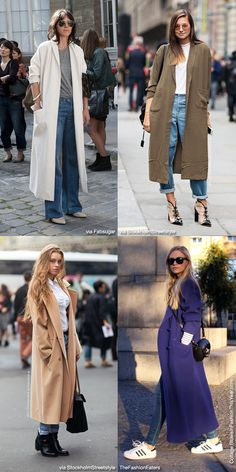 How to Wear: Long Coat Basics - Blue is in Fashion this Year