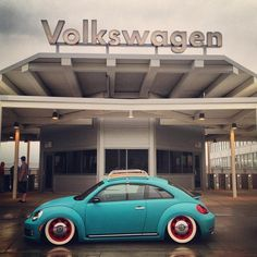 New Volkswagen Beetle made to look Old School