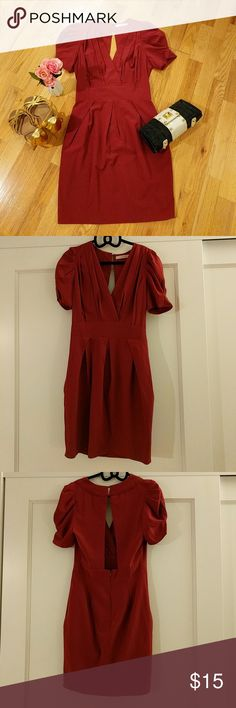 Carolina Williamson Red Dress Wedding guest Formal Carolina Williamson Red Dress. Perfect Wedding guest dress. Only worn once. Like New. No Flaws. Perfect light weight Summer Spring Dress. But you can wear it for winter with long boots! Size 0-2 Carolina Williamson Dresses