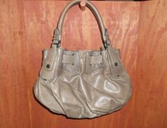 JUICY COUTURE TAUPE FREESTYLE LEATHER HOBO BAG #JuicyCouture #Hobo