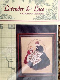 PATTERN cross stitch LAVENDER & LACE victorian QUILTMAKER quilt M LEAVITT IMBLUM #LAVENDERLACE #stitchery