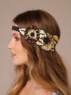 Cluster Sequin Applique Headband. diy.