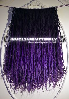 #Dreads 40DE #DarkIris by #NVCL3ARBVTT3RFLY #curlydreads #darkdreads #gothichairstyles