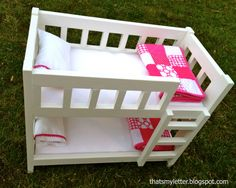 A DIY tutorial to build a camp style bunk bed for dolls.