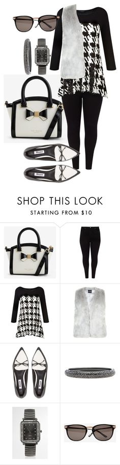 """Plus Size Black & White"" by tweedleduh on Polyvore featuring Ted Baker, Studio 8, Grace, Dune, Lane Bryant, Avenue, blackandwhite and plussize"