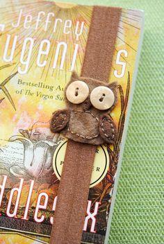 Marcador elástico buho marrón por BlueEyedNightOwl en Etsy