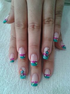 Great Nails, Toe Nail Designs, Flower Nails, Mani Pedi, Toe Nails, Nail Tips, Hair And Nails, Nail Colors, Acrylic Nails