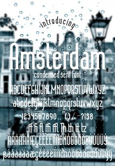 Amsterdam — TrueType TTF #alphabet #lettering • Available here → https://graphicriver.net/item/amsterdam/19824354?ref=pxcr