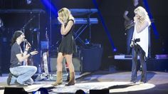 Carrie Underwood knows how to spread love -- Carrie Underwood helps couple get engaged during her concert in Belfast -- Read more by clicking here.