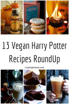 13 Vegan Harry Potter Recipes RoundUp + 1 Bonus Non-Food DIY - Perfect for a Harry Potter themed party! + 13 Vegan Harry Potter Recipes RoundUp + 1 Bonus N Vegan Treats, Vegan Foods, Vegan Desserts, Vegan Recipes, Autumn Recipes Vegan, Vegan Snacks, Crockpot Recipes, Harry Potter Motto Party, Harry Potter Food