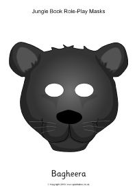 Jungle Book Role-Play Masks (SB11545) - SparkleBox
