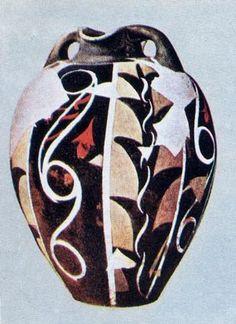 Vaso dipinto in stile Kamares. 1900-1700 ca. a. C. Heraklion, Museo Archeologico. Creta. - Arte Minoica