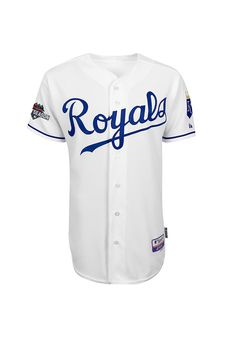 Kansas City Royals White Authentic 2015 Post Season Jersey http://www.rallyhouse.com/Kansas-City-Royals-White-Authentic-2015-Post-Season-Jersey?utm_source=pinterest&utm_medium=social&utm_campaign=150924CLINCH-KCRoyals $218.00