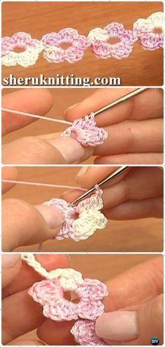 Crochet Floral Cord Free Pattern [Video] -Crochet Cord Free Patterns