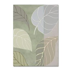 "Trademark Art 'Leaf Story V' by Color Bakery Graphic Art on Wrapped Canvas Size: 19"" H x 14"" W x 2"" D"
