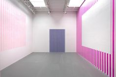 Daniel Buren at Friedrich Petzel (Contemporary Art Daily) Daniel Buren, Contemporary Art Daily, Mural Wall Art, Murals, Vinyl Paper, Painted Paper, Paint Designs, Room Colors, Deco