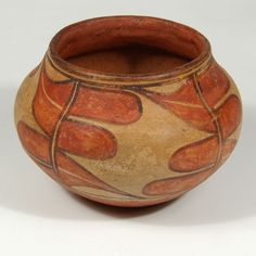 "#adobegallery - Historic Zia Pueblo Small Polychrome Jar. Potter Unknown Category: Historic Origin: Zia Pueblo Medium: clay, pigment Size: 3-1/2"" tall x 5-1/8"" diameter Item # 25737"