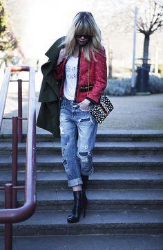 @Barbara Snellenburg wearing #Shirtaporter #SpringSumer15 red #Jacket
