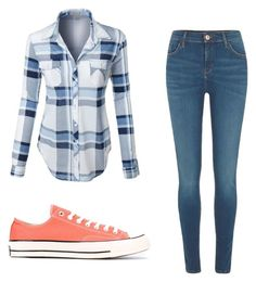 """Mila's casual wear"" by pantsulord on Polyvore featuring LE3NO, River Island and Converse"
