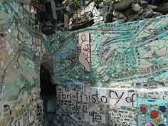 Mosaics by outsider artist Isaiah Zagar at the Magic Gardens in Philadelphia