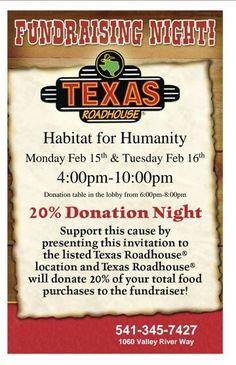 Fundraiser for Habitat fir Humanity