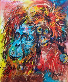 Orangutan Joyful Ride 20x24 acrylic