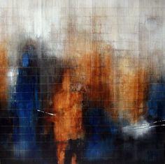Painting, Acrylic, Acrylic on rush carpet 100 x 100 cm - Image #162754