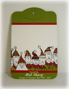 Holiday Lineup Tag by stampinandstuff - Cards and Paper Crafts at Splitcoaststampers