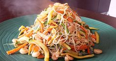 classica ricetta giapponese: shirataki con verdure e gamberetti!