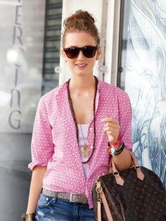 Schnittmuster: Seersucker-Bluse - 3/4-Ärmel - Blusen - Blusen  Tuniken - Damen - burda style