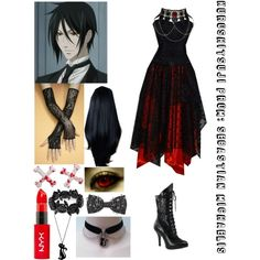 Designer Clothes, Shoes & Bags for Women Casual Cosplay, Cosplay Outfits, Anime Outfits, Girl Outfits, Fashion Outfits, Anime Inspired Outfits, Character Inspired Outfits, Themed Outfits, Black Butler Cosplay