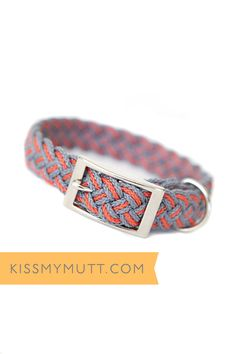 Kiss My Mutt® Barcelona Mar Two-toned Braided Collar. www.kissmymutt.com