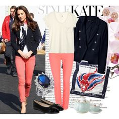 Kate Middleton in coloured jeans, created by zoenian on Polyvore