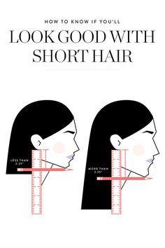 Hairstyle tips and trick – would YOU look good with short hair? Here's a nifty trick to figure out if YOU would look good with a trendy short haircut.