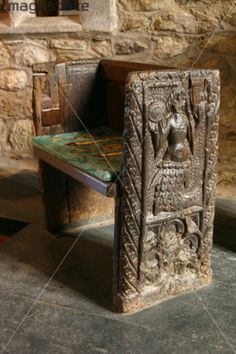 "Not necessarily a product, but it's a real thing with a cool story: ""The Mermaid Chair, St. Senara's Church, Zennor, Cornwall; The chair commemorates the tale of a mermaid who fell in love with a young man who was one of the church choristers and enticed him to come away with her, never to be seen again."""