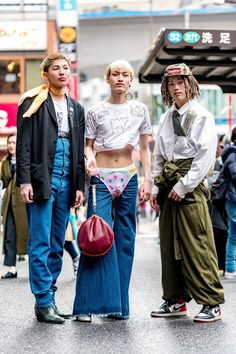 The Best Street Style From Tokyo Fashion Week Fall 2018 in 2020 Asian Street Style, Tokyo Street Style, Street Style Trends, Japanese Street Fashion, Cool Street Fashion, Look Fashion, Korean Fashion, Tokyo Style, Fashion Quiz