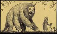 This Artist Dreams Up Awesomely Creepy Monsters, Then Draws Them On Post-It Notes