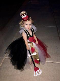 The Queen of Hearts  Toddler Halloween, Alice & Wonderland theme.