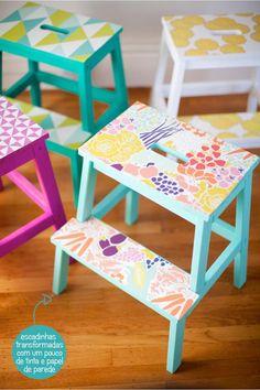 Dar uma colorida e personalizada até nas peças mais básicas da casa, faz com que ela fique muito mais alegre e divertida. De fato essa é a regra número um
